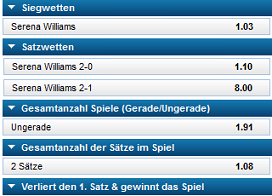 William Hill Wettangebot Tennis