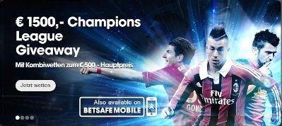 Betsafe Champions League Fußballwetten