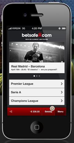 Ansicht Mobile App Betsafe