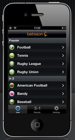 betsson desktop version