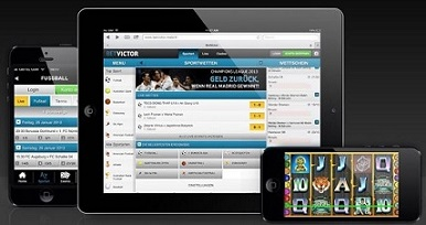 So sieht die mobile Wettseite von Betvictor Sportwetten auf verschiedenen Endgeräten aus
