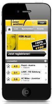 Interwetten Smartphone App