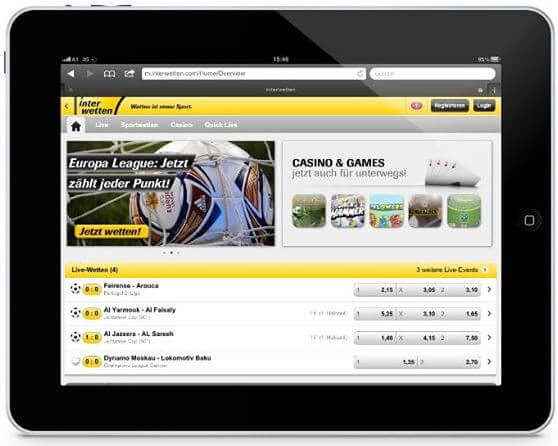 Interwetten Tablet App