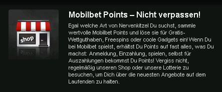 Mobilbet Bonusprogramm