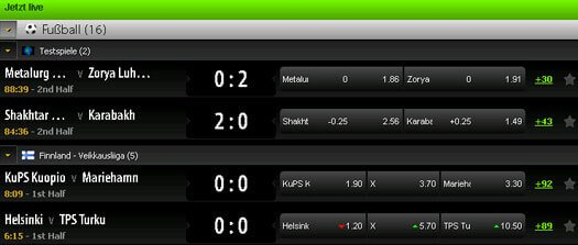 Mobilbet Fußball Live Wetten