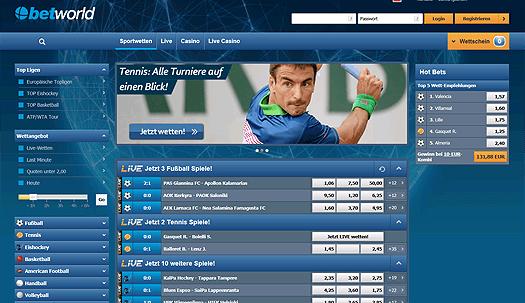 Betworld Website Screenshot