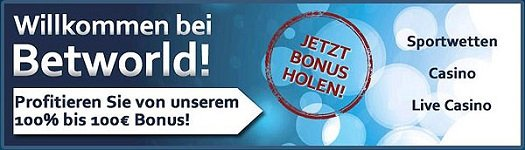 Sportwetten Bonus Betworld