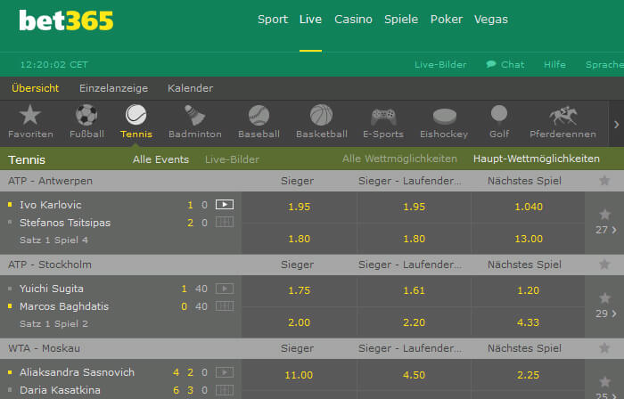 Bet365 Live Wetten Live Center