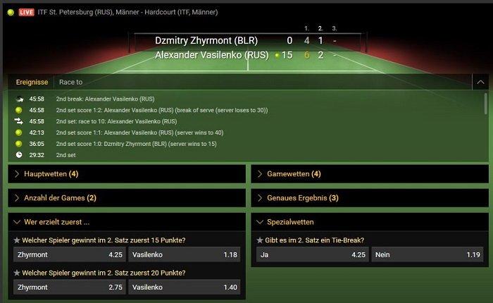 Bwin Tennis Sportwetten Live