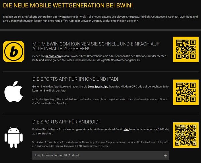 Bwin App Download