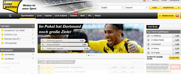 Interwetten Website Screenshot