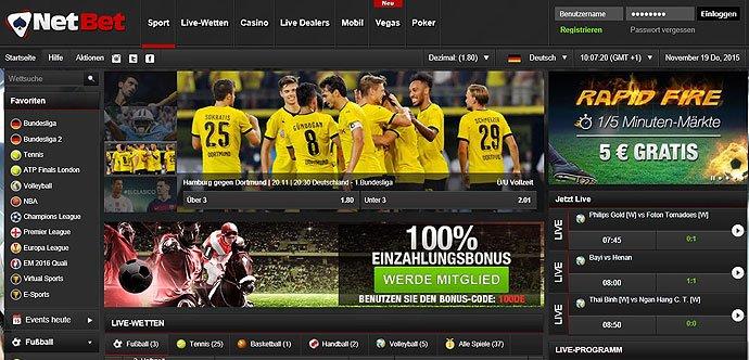 Screenshot Netbet Startseite
