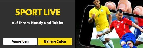 mobiler Live Ticker von Bet365