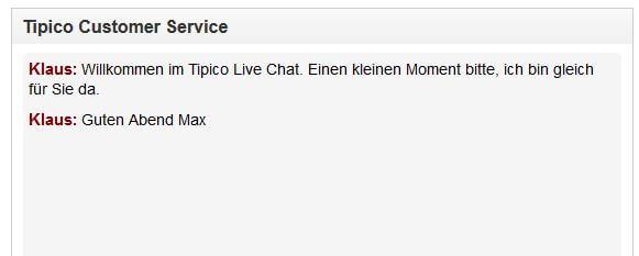 Tipico Sportwetten Kundenservice Chat