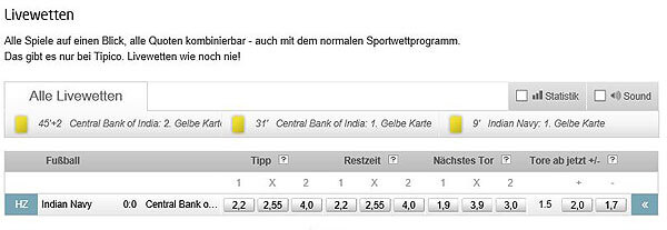 Tipico-Sportwetten-Livewetten