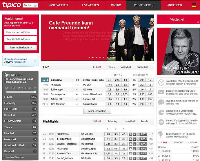 Tipico-Sportwettentest-Website