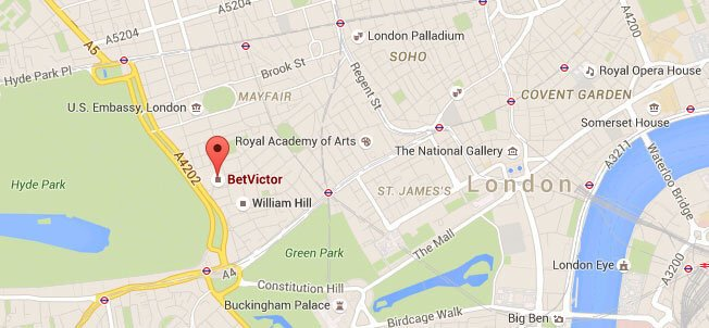 Betvictor Firmensitz London Map