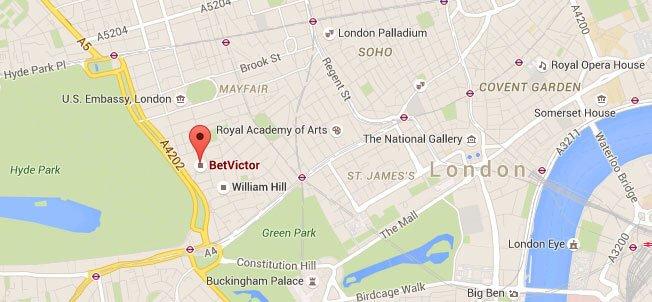 Betvictor Firmensitz London Map