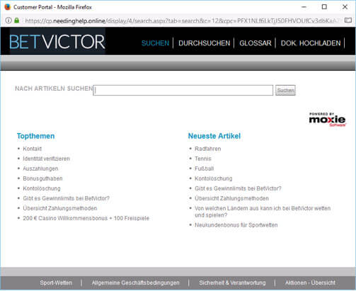 betvictor-hilfe