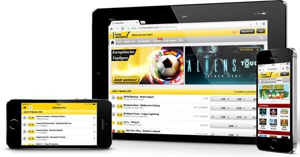 Mobile Fußballwetten von Interwetten