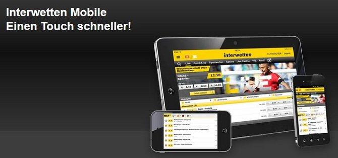 Interwetten Mobile einen Touch schneller