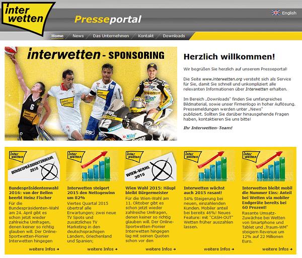 Interwetten Presseportal