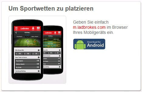 Ladbrokes mobile Website