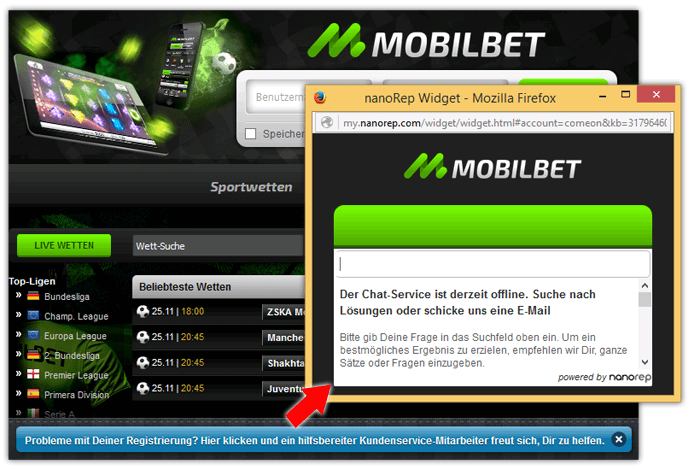 Mobilbet Live-Chat