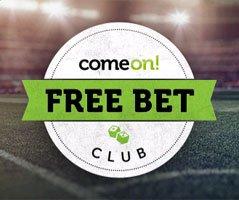 """ComeOn """"Free Bet Club"""": wöchentlich bis zu 1.000€ Wettguthaben"""
