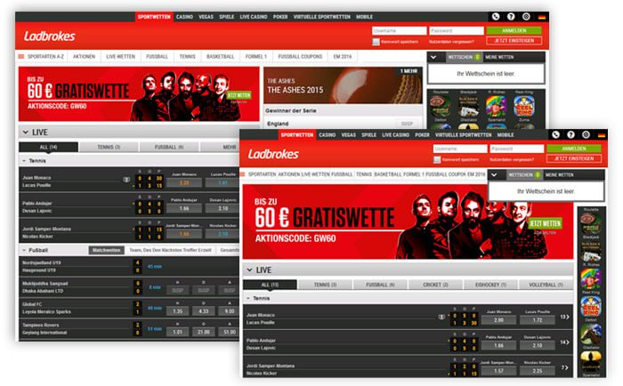 Ladbrokes Website 2015