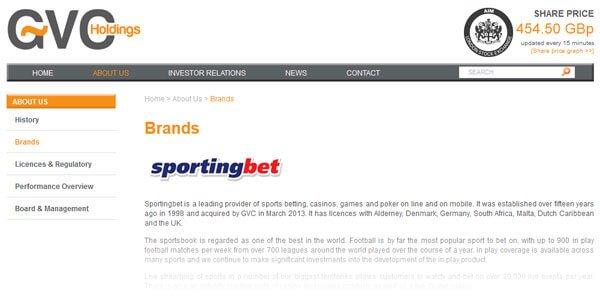 Sportingbet ist Teil der GVC Holding
