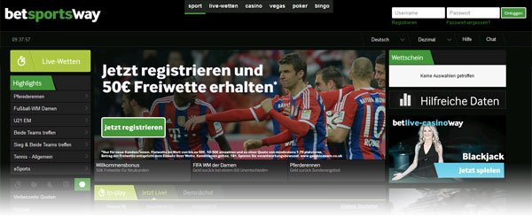 Betway Website Screenshot