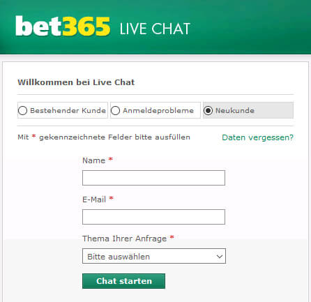 Bet365 Kundendienst Live Chat