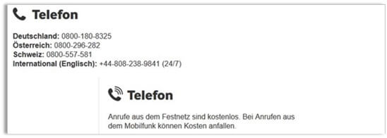 Betway Support Telefon