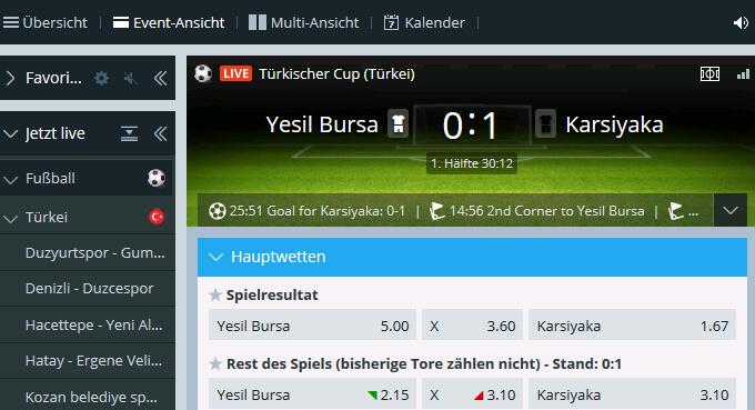 Sportingbet Live Türkei Pokal