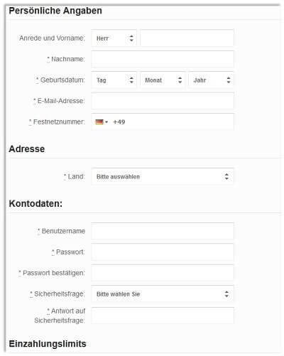 Betvictor Registrierung