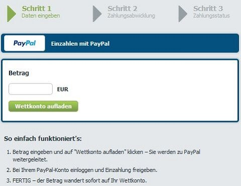 Einzahlung PayPal Bet-at-home