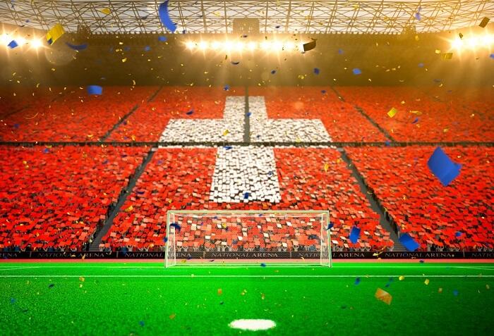 EM 2016 Schweiz Stadion und Fans