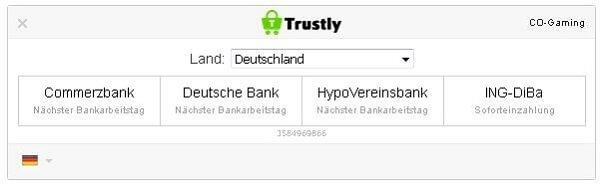 Einzahlung Trustly Mobilbet