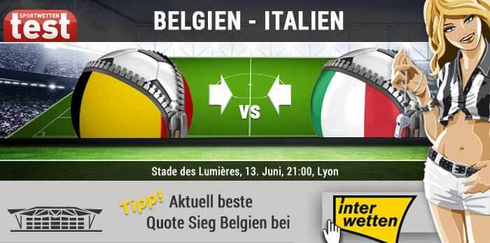 EM 2016 Belgien gegen Italien