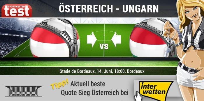 Die besten Wettquoten zu Österreich - Ungarn bei Interwetten