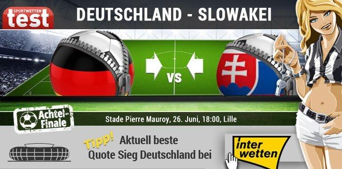 Wettquoten Deutschland Slowakei