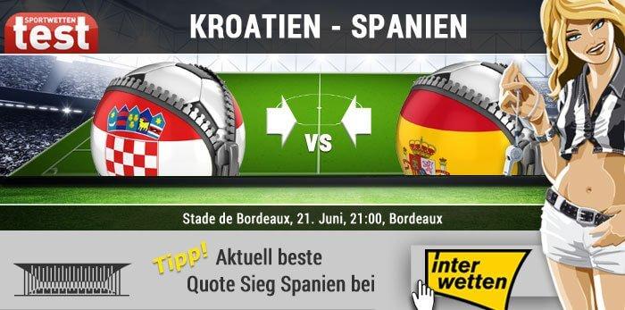 EM 2016 Kroatien gegen Spanien