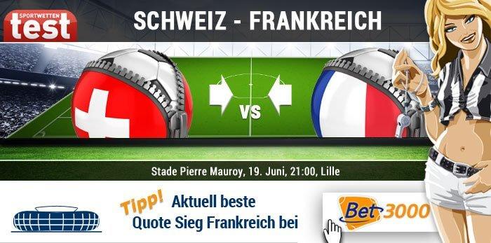 EM 2016 Schweiz gegen Frankreich