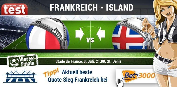EM 2016 Frankreich gegen Island