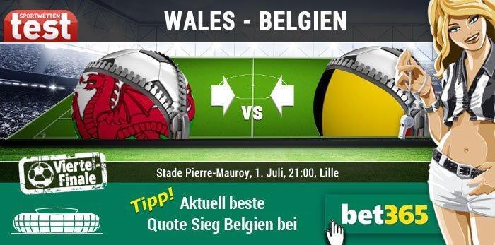 EM 2016 Wales gegen Belgien