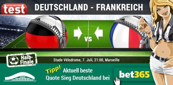 Wettquote Deutschland Frankreich