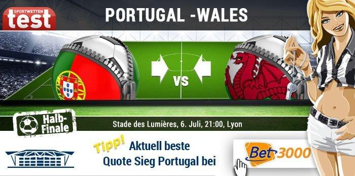 EM 2016 Portugal gegen Wales