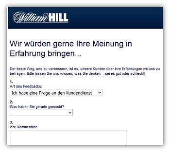 william hill kundenservice