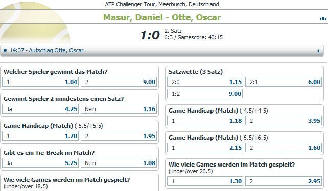 Bet-at-home Live Wetten